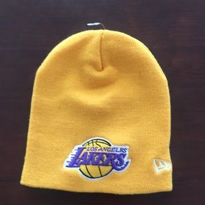 Los Angeles Lakers logo beanie